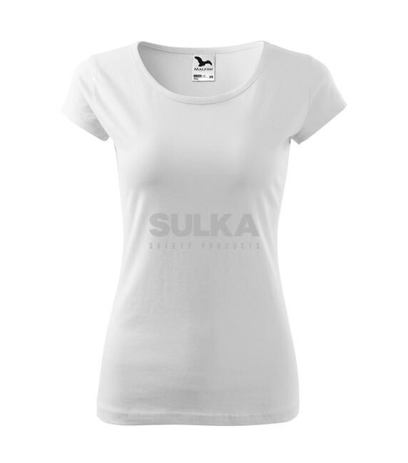 265f39c6c83dc Dámske biele tričko so silikonovou úpravou a krátkym rukávom vyrobené zo 100%  bavlny. Zľahka