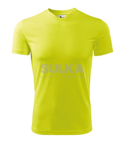 e57e549a81093 Pánske tričko neónovo žltej farby s krátkym rukávom vyrobené zo 100%  polyesteru . Má spevnené · ADLER 124 FANTASY ...