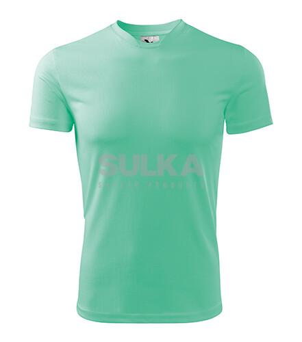 9c1a6d3f6ce07 Pánske tričko mätovej farby s krátkym rukávom vyrobené zo 100% polyesteru .  Má spevnené ramenné · ADLER 124 FANTASY ...