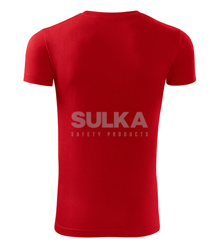 8210296c124df Pánske červené tričko s krátkym rukávom so silikónovou úpravou, vyrobené zo  100% bavlny.