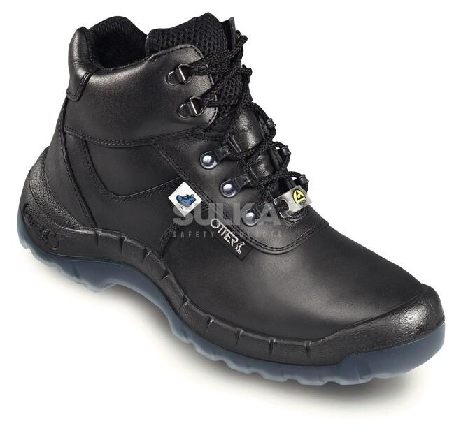 26e75f4ad2 Bezpečnostná pracovná ESD členková topánka s kompozitnou špicou a podrážkou  odolnou voči roztrhnutiu a prepichnutiu.