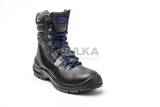 dc3df0b745 Pracovná zateplená a vodeodolná vysoká obuv bez bezpečnostnej špice a  stielky proti prepichnutiu s antistatickou dvojhustotnou