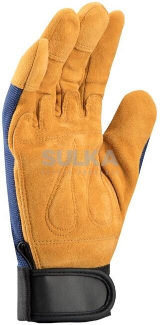 febf2bd6fff Špecialne ochranné rukavice z kvalitnej hovädzej štiepenky a s vypchávkami  v dlani