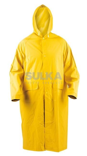 4c92427ea2 Dlhý nepremokavý plášť do dažďa s kapucňou zo sťahovaním na šnúrku vyrobený  zo 100% polyesteru