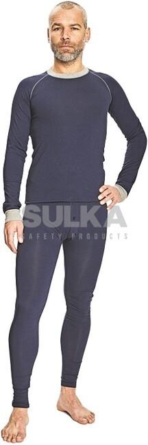 3c63eee1b121b Zimné funkčné tričko modrej farby s dlhým rukávom a predĺženým zadným  dielom. Vyrobené zo zmesi · LION TERMO TRIČKO MODRÉ ČERVA 0309000141