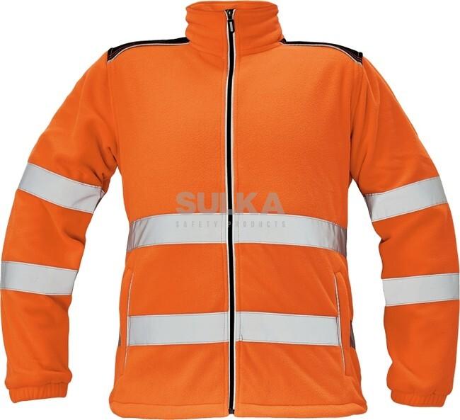 3914a16b038 Pánska pracovná fleecová hi-vis bunda so stojačikom a zapínaním na zips