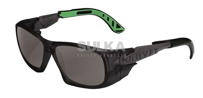 6d76cdb1a Štýlové pracovné slnečné okuliare športového tvaru s bočnou ochranou a  odvetrávacím systémom. Majú čierny rám