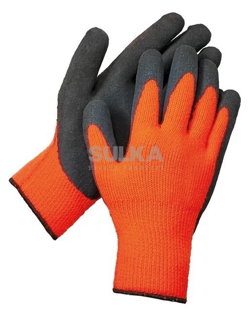 3bd5765bd6a Multifunkčné bezšvové pletené rukavice s akrylovou podšívkou a povrstvené  mikroporéznym latexom s protišmykovou a protiporéznou úpravou