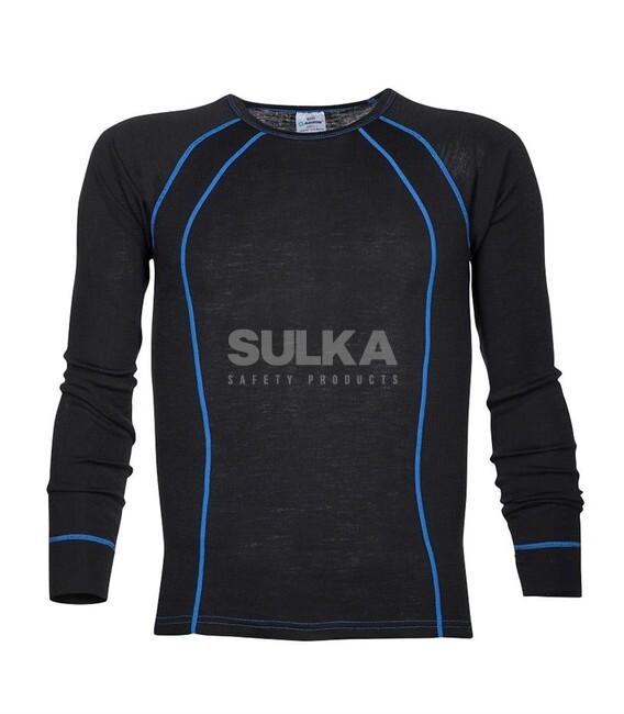 a311e00749bb8 Funkčné veľmi kvalitné tričko čiernej farby s kontrastným modrým lemovaním, dlhým  rukávom vyrobené z kvalitného · NAVI TERMO TRIČKO ČIERNE ...