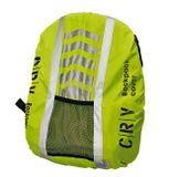 Nepremokavý obal na batoh HI-VIS žltý s vreckom a objemom 24-40 litrov. Dobrú viditeľnosť zabezpečujú reflexné doplnky.