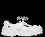 Pohodlné pracovné sandále s uzavretou pätou a s oceľovou ochrannou špicou. Sandále sú zo syntetického materiálu mikrovlákna s vysokými mikroporéznymi vlastnosťami. Polyuretánová PU/PU podošva má lepšie protišmykové vlastnosti SRC na všetkých povrchoch a je rezistentná voči olejom a palivám.