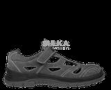 Sandále s oceľovou bezpečnostnou špicou a podrážkou odolnou voči prepichnutiu so zapínaním na jeden pásik so suchým zipsom. Polyuretánová PU/PU podošva je rezistentná voči olejom, antistatická a má výborné protišmykové vlastnosti SRC na všetkých povrchoch. Zvršok topánky je z hovädzej štiepenky.