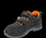 Ľahké, vzdušné ESD sandále s kompozitnou bezpečnostnou špicou bez podrážky odolnej voči prepichnutiu. Polyuretánová  ODYSSEA PU/PU podošva je rezistentná voči olejom, pohonným hmotám a má vysokú odolnosť voči pošmyknutiu SRC, absorpciu energie v päte pre zvýšenie pohodlia. Zvršok obuvi vyrobený z hovädzej štiepenky. Zapínanie na dva suché zipsy.