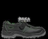 Bestseller flexibilné sandále s oceľovou bezpečnostnou špicou bez podrážky odolnej proti prepichnutiu vhodné do vnútorných aj vonkajších prevádzok. Polyuretánová PU/PU podošva je protišmyková SRC na všetkých povrchoch, rezistentná voči palivovým olejom a antistatická. Zvršok obuvi je z hovädzej usňovej kože.