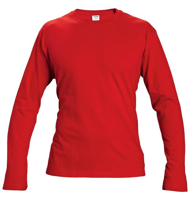 f66e5c738d36 CAMBON TRIČKO S DLHÝM RUKÁVOM ČERVENÉ Obľúbené tričko v červenej farbe s dlhým  rukávom vyrobené zo