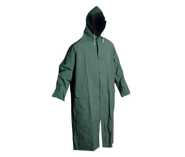 9fc6db14b3 CETUS PLÁŠŤ Zelený nepremokavý plášť do dažďa s kapucňou v golieri vyrobený  zo 100% polyesteru · CETUS PRŠIPLÁŠŤ ZELENÝ ČERVA 0311001310