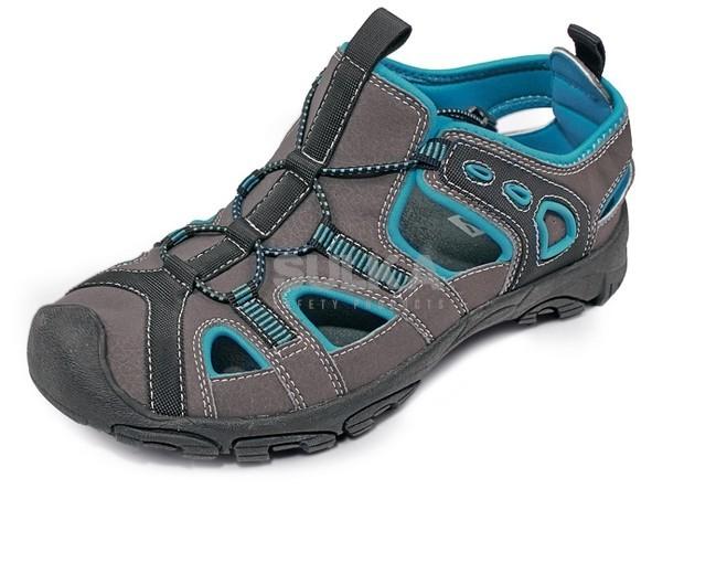 DULOE SANDAL BLUE pracovné sandále s TPR samočistiacou podrážkou a  prekrytou špicou. Zvršok z prírodnej 851666d000