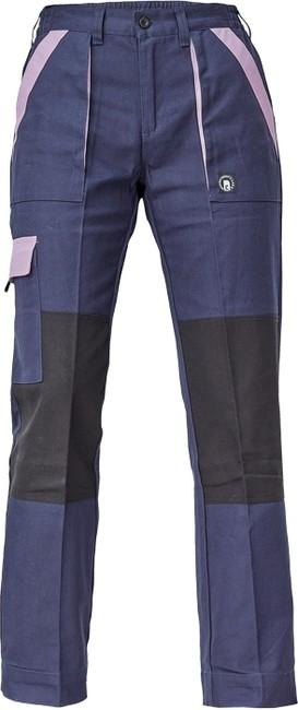 bba44432a851 MAX LADY NOHAVICE Sivo-oranžové dámske pracovné montérkové nohavice  vyrobené zo 100% kvalitnej bavlny