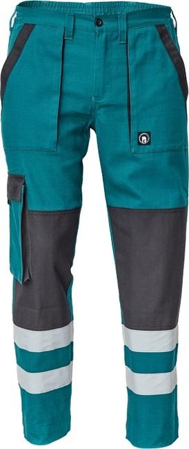 MAX NOHAVICE REFLEXNÉ Zeleno-čierne pánske pracovné montérkové nohavice  vyrobené zo 100% kvalitnej bavlny c14c94e96b