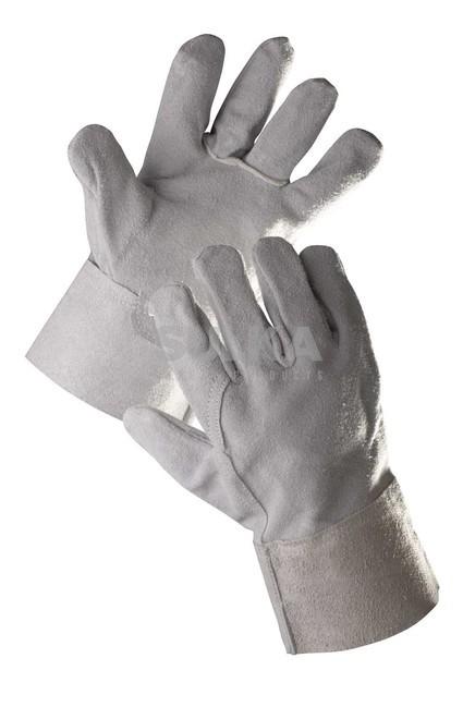 ffa9e6c4543 SNIPE celokoženné mechanicky odolné pracovné rukavice z hovädzej štiepenky